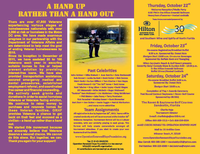Celebrity Golf Classic Brochure