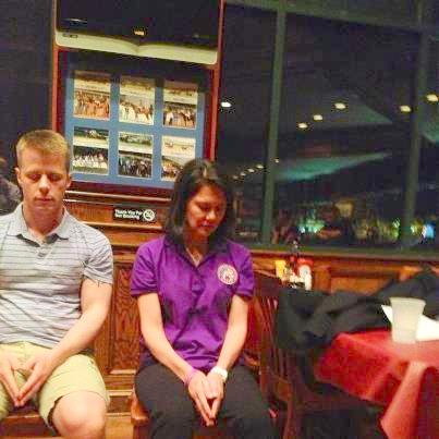 Kris Groth and Kim Young under hypnosis